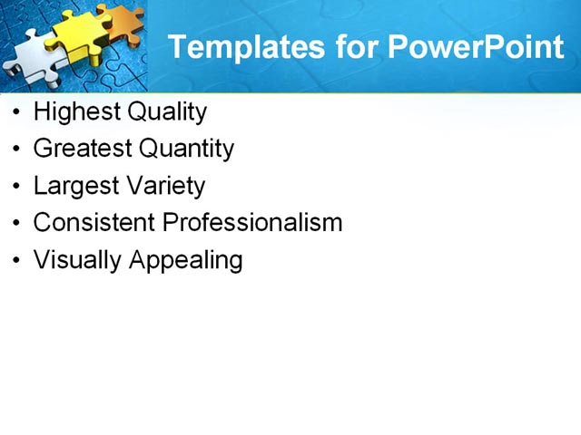 PPT Template - blue, puzzle, business - Text Slide