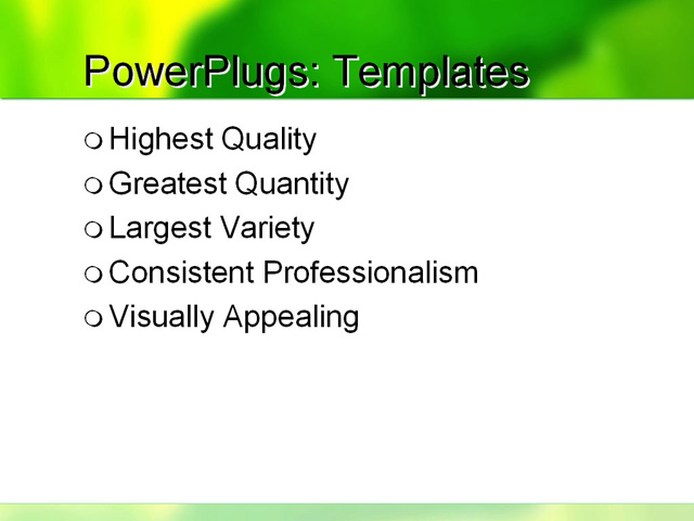 PPT Template - green, dark green, bottle green - Text Slide