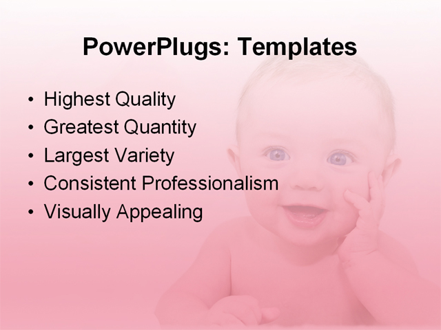PPT Template - baby, art, colorful - Text Slide