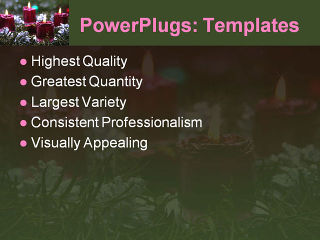PPT Template - advent, candles, christmas - Text Slide