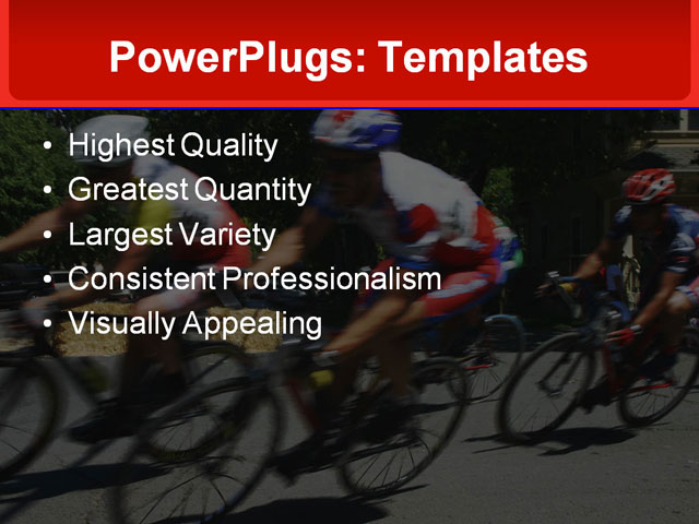 PPT Template - cycling, racing, racers - Text Slide
