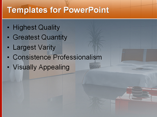powerpoint template modern bedroom interior with