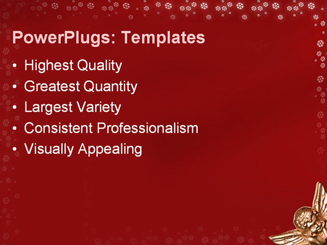 PowerPoint Template: red Christmas card written Merry Christmas and ...