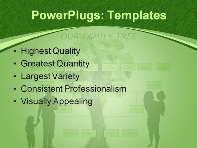 PPT Template - blank, family, family tree - Text Slide