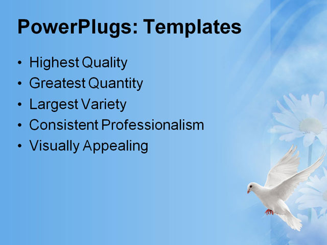 PPT Template - background, bird, dove - Text Slide