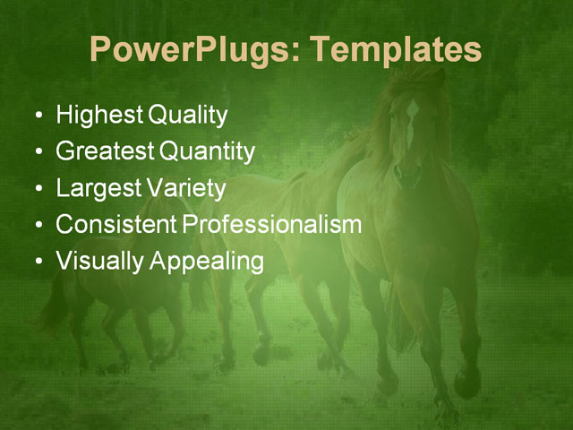 PPT Template - animals, brown, chase - Text Slide