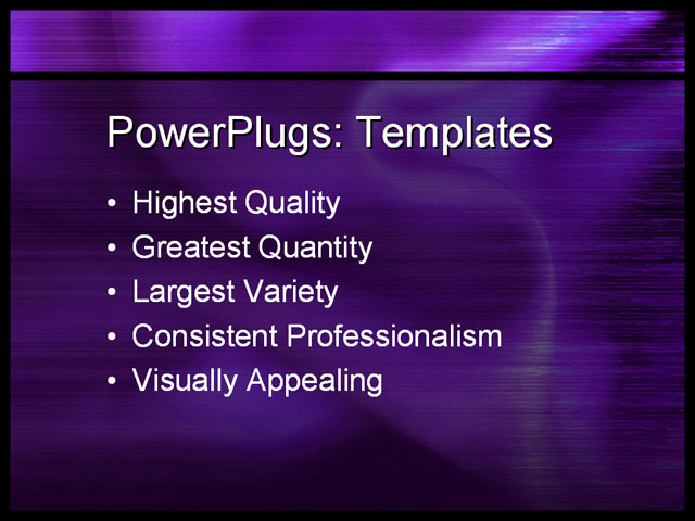PPT Template - purple, satin, silky - Text Slide