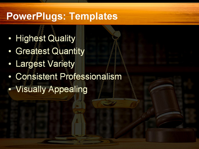 PPT Template - justice, balance, order - Text Slide