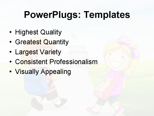 PPT Template - education, art, children - Text Slide