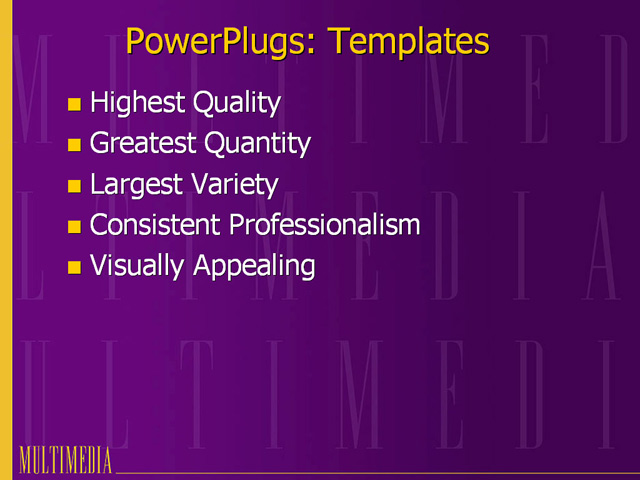 powerpoint template multimedia purple background with
