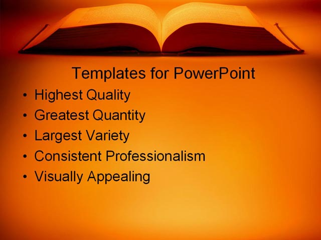 PPT Template - education, book, learning - Text Slide