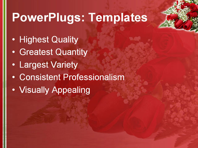 PPT Template - arrangement, background, bloom - Text Slide