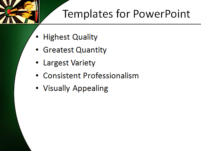 PPT Template - target, aim, success - Text Slide