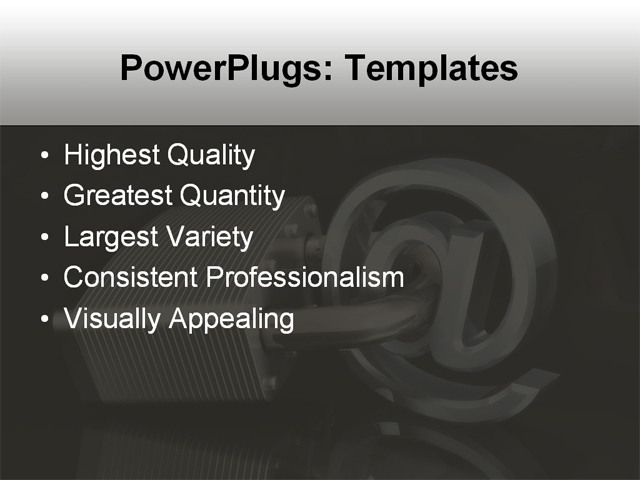 PPT Template - communicate, data, computer - Text Slide