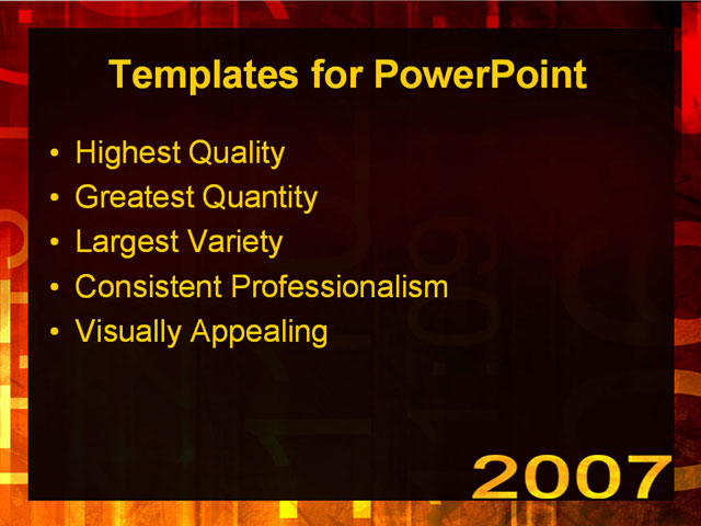 templates powerpoint 2007