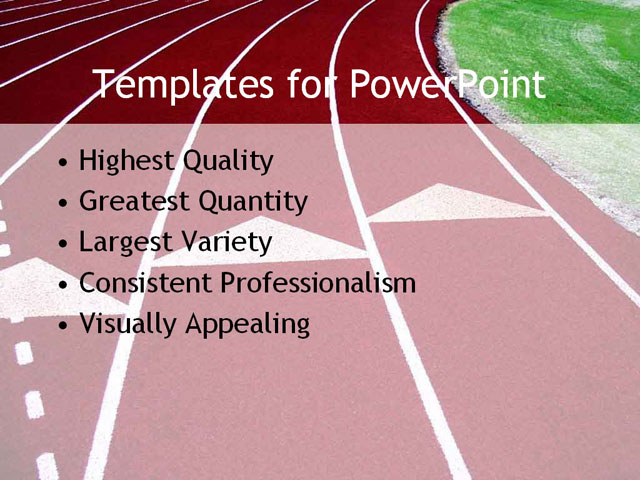 PPT Template - track, field, running - Text Slide