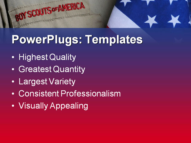 Boy scout images pictures and photos crystalgraphics for Boy scout powerpoint template