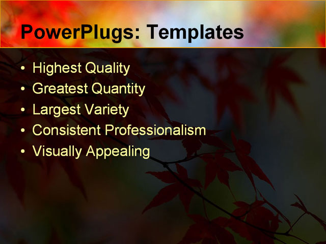 PPT Template - fall, leaves, change - Text Slide